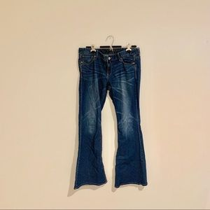 Express Low Rise Stella Flare Jeans Size 12